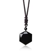 Adjustable Healing Stones Amulet Star of David Hexagram Pendant Necklace