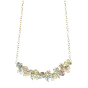 Gripoix Paris Women's Multicolour Glass Blooming Flowers and Buds Adjustable Chain Necklace of Length 45 cm