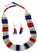 Prakash Jewellers smooth and gorgeous multi colour oxidised broad bead necklace for women
