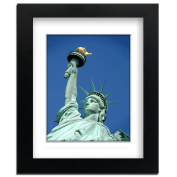 Big Art Shop - Lady Liberty - Street Art - professionally Framed art print with mount, Black, 18x14 inches / 46x35cm