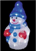 32 White Leds Acrylic Snowman - 32cm Tall Xmas In/outdoor Decoration