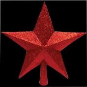 Christmas Tree Red Glitter Top Star Xmas Decoration