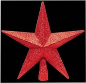 Red Glitter Covered Christmas Tree Top Star Xmas Decoration