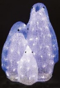 Christmas Decoration Led Acrylic Penguin Family Indoor Mains Operated 40cm Xmas