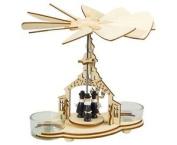 Wooden Christmas Pyramid Tealight Windmill. Church & Choir
