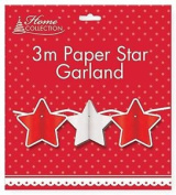 3m Paper Garland Stars For Xmas Christmas Deco Decotration Uk Stock