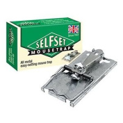 Selfset Mouse Trap (classic Design, Rust-resistant Springs, Galvanised Metal Rod