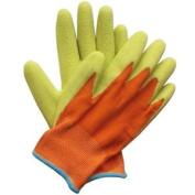 Briers Kids Junior Digger Green & Orange Gloves (age 5-9) B5314