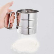 Stainless Steel Mesh Flour Sifter Mechanical Baking Icing Sugar Shaker Sieve Dg