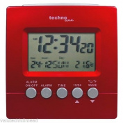 Technoline Radio Controlled Clock Desk ,red