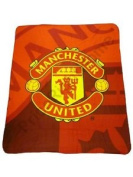 Manchester United Fc Panel Fleece Blanket 150cm X 120cm