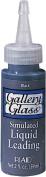 Plaid Gallery Glass Simulated Liquid Leading (60ml), 16025 Classic Black