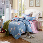 ZLQZZPP Cotton Twill Positioning Four Sets Cotton Printing Double Bed Bedding Suite,34-230*250