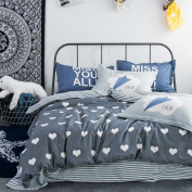 ZLQZZPP Cotton Twill Positioning Four Sets Cotton Printing Double Bed Bedding Suite,30-230*250
