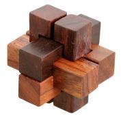 ShalinIndia Handmade Wooden IQ Teaser Puzzle Magic Games Interlock Notch Sticks 2X5.1cm X 2Inch For Children Unique Kids Gifts
