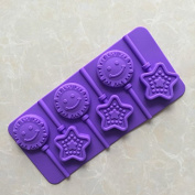 LC Star And Sun M005 DIY Chocolate Baking Mould Silicone Ice Lollipop Mould