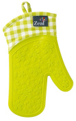 Steam Stop Waterproof Oven Glove - Gingham - Single - Lime Green - V104l