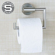 Wonder Worker Hold Toilet Paper Holder Wall Mount No Drill Stainless Steel