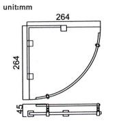 Triangular Corner Storage Glass Shelf