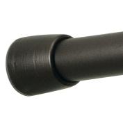 "InterDesign Cameo Constant Tension Shower Curtain Rod – extendable 43""-75"", Medium, Bronze"