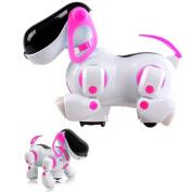 NMIT® Childrens i-Robot Puppy Dog, Flashing Light & Sound - Walks, Runs, Barks, Bump 'n' Go