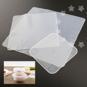 3pcs Silicone Food Wraps Seal Cover Cling Film Food Fresh Keep Kitchen Tools