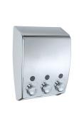Wenko Soap Dispenser Varese 3-chamber, Chrome New