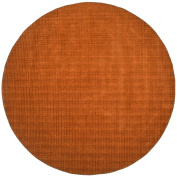 Pulse Round Rug, 2.4m by 2.4m, Copper