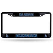 Los Angeles Dodgers LA BLACK Metal New Design Chrome Licence Plate Tag Frame Cover Baseball