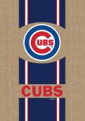 Evergreen Burlap Chicago Cubs House Flag, 110cm H x 70cm W