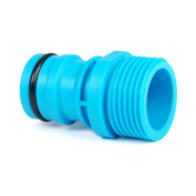 Hozelock Compatible 2.5cm Accessory Tap Connector-male Thread - Joiner Hose Pipe-bl