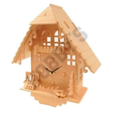 Cuckoo Clock: Wood Craft Assembly Wooden Construction Clock Kit