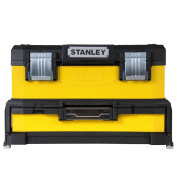 Stanley Toolbox Storage Case Organiser Handle Removable Tray Lockable 1-95-829