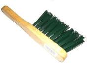 Green Pvc Stiff Wooden Varnished Handle Scrubbing Brush