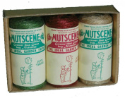 Nutscene 3 Tiddler Twines Boxed Mixed Colours 13m Jute Coloured String