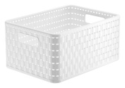 Rotho Storage Basket Rattan Look A5plus 1169100000, Size A5+, Capacity Approx 11