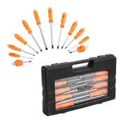 Vonhaus 12pc Magnetic Tipped Screwdriver Set With Hex Bolsters & Storage Case