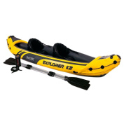 Intex Explorer K2 Kayak Yellow Black 2 Inflatable New Boat Tuv Approved Summer