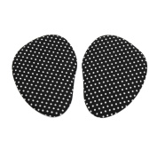 sourcingmap® 1 Pair Black White Dots Gel High Heel Forefoot Pad Foot Metatarsal Support Cushion Insole