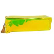 LA HAUTE Fashion Pencil Case Holographic PVC Pencil Bags Coin Purse Makeup Pouch
