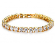 Simple Gold Plated Bracelet With Crystal Rhinestones - Fine Jewellery For Women By Cara Z