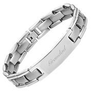 GRANDAD Titanium Bracelet Engraved Love You Grandad Adjusting Tool & Gift Box Included