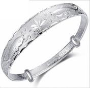 NANHONG 925 Sterling Silver Bracelet -Fishes 3D Relief