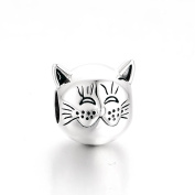 DeLageo, Content Cat 925 Sterling Silver Charm Bead.