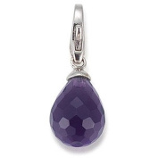 gooix GXC199 Charms Women's Charm Silver Zirconia oval Violet