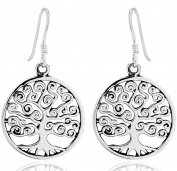 DTPSilver - 925 Sterling Silver Tree of Life Earrings