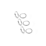 925 Sterling Silver Endless 10mm Round Hoop Earrings 3 Pair Set Many Colours Available- Nine2Five