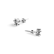 Le Destin Ladies Earrings Set 925 Sterling Silver, White Crystal