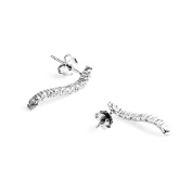 925 Sterling silver earrings Le Destin silver 925 for jewellery ear plug earrings set 925 sterling silver, white crystal