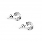 Silver jewellery 925 earrings set Le Destin ladies 925 sterling silver white crystal